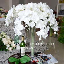 "90 cm/35"" Elegant Artificial Butterfly Orchid Silk Flower Phalaenopsis Bouquet for Home Ornament Wedding Decorations supplies(China (Mainland))"
