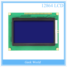12864 128x64 Dots Graphic Blue Color Backlight LCD Display Module for arduino raspberry pi(China (Mainland))