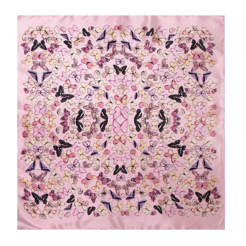 [LESIDA]Fashion Square Silk Scarf ,Bufandas Cuellos,Butterfly Pattern Short Feminino, Satin Silk Head ScarvesXF88020(China (Mainland))