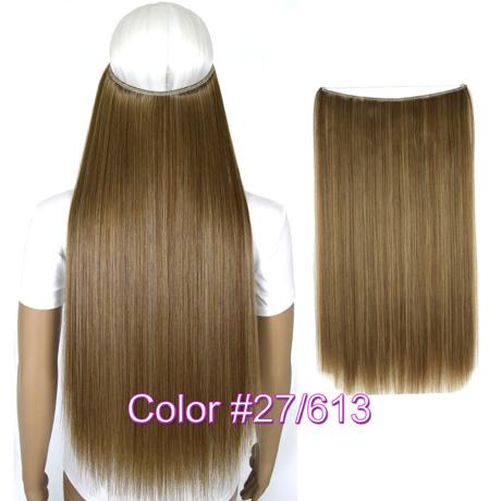 """Верхние термостойкие B5 синтетические волосы 20 """"50 см 50 г эластичность невидимая 27-613"""