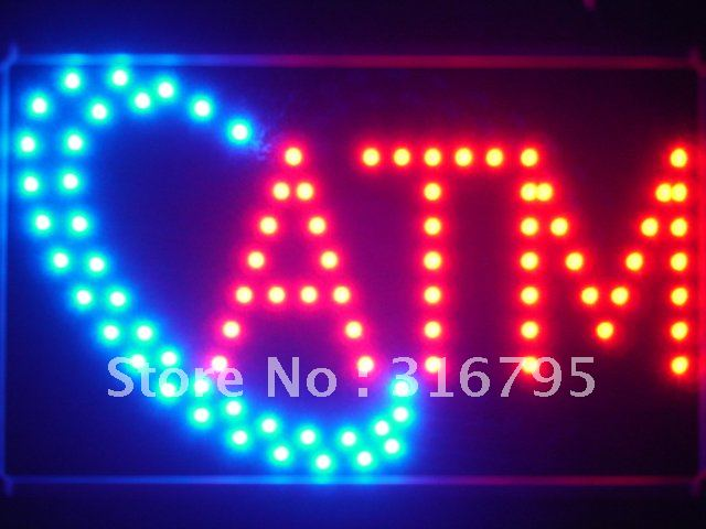 led025-r ATM LED Neon Light Sign with Whiteboard