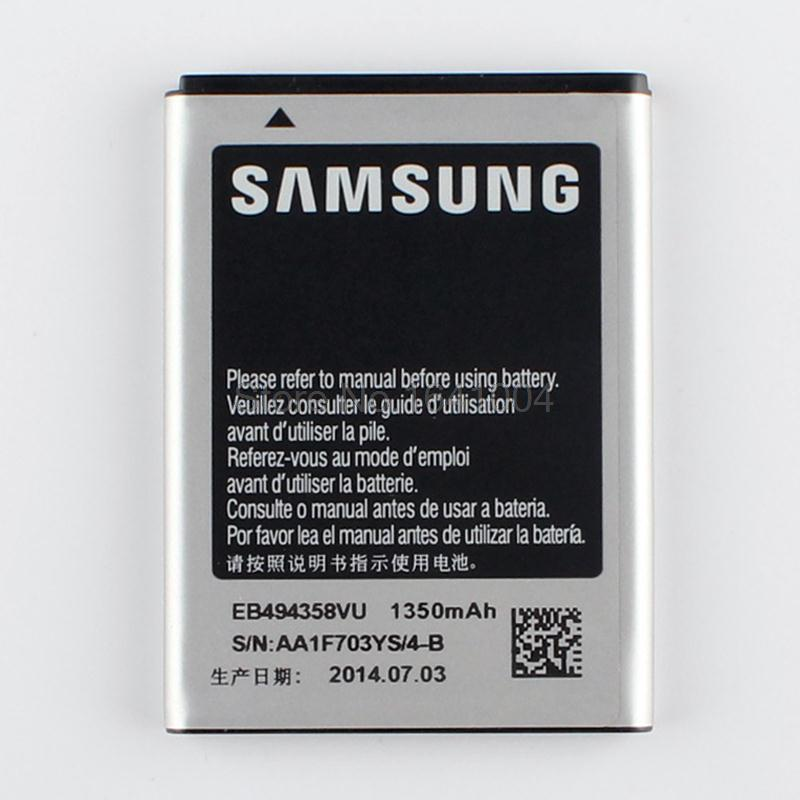 100% Original Replacement Battery For Samsung Galaxy Ace S5830 S5660 S7250D S5670 i569 EB494358VU(China (Mainland))