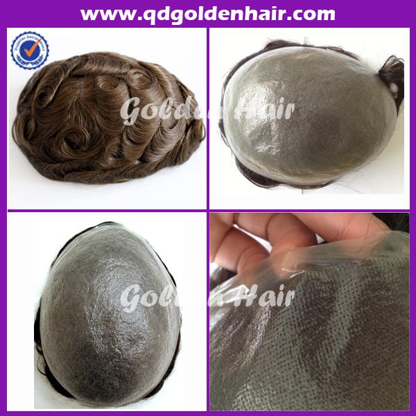 2015 High Quality Injected Super Thin Skin Pu Toupee(China (Mainland))