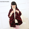 Girls Scarves Warm New Winter Spring Autumn Children Collar with Stripe Scarf Cotton Shawl Lattice Fashion