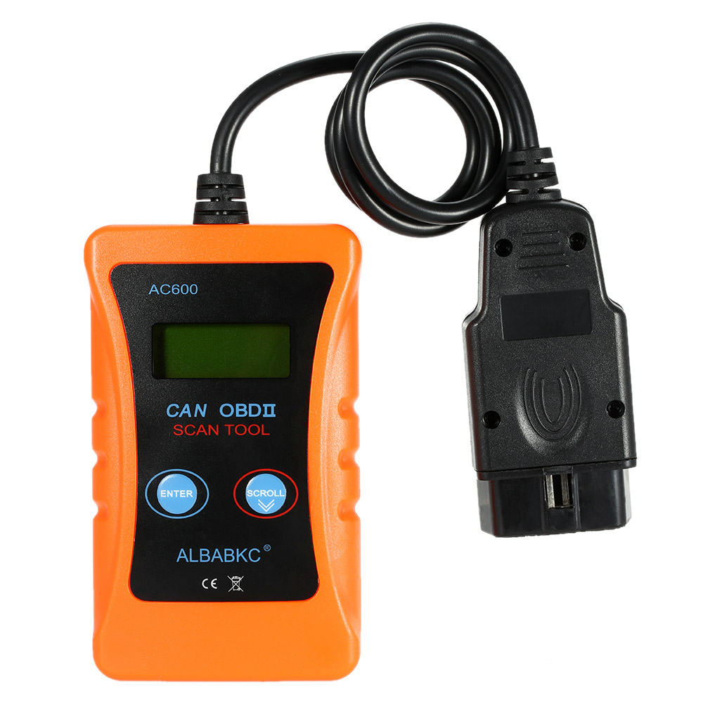 Professional ALBABKC AC600 OBD 2 OBDII Auto Car Diagnostic Scan Tool OBD2 Code Reader Scanner Read and Clear Trouble Codes(China (Mainland))