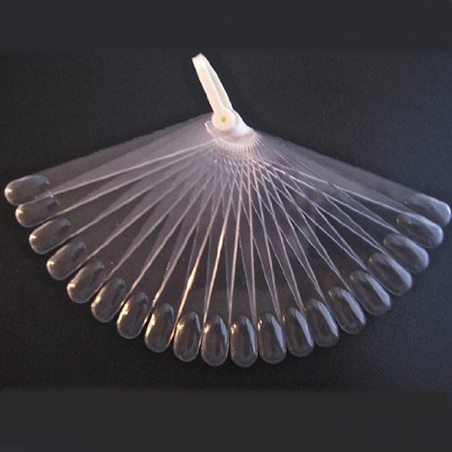 10pcs 20 sticks Clear Pop Sticks  Fan-Shaped Nail Art Display Clear Chart for Polish Gel Display Nail Tool Hot Selling F0025X