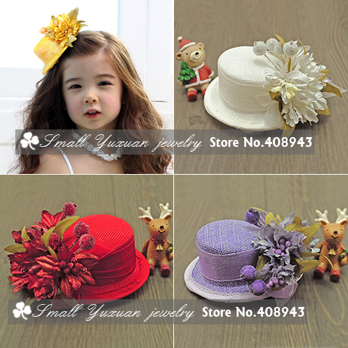 Fascinator Tiaras Dress Bridal Hair Accessories Flowers Hats Hair Clips Girl Children Cocktail