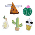 1Set Cartoon Cactus Metal Pin Badge Clothes Badges Backpack Beautify Icons Package Icon Clothing Decorative Brooches