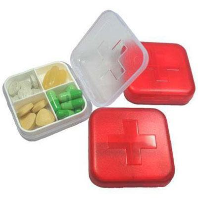 100pcs/lot New arrival cross four-frame kit drug storage box portable waterproof mini portable kit