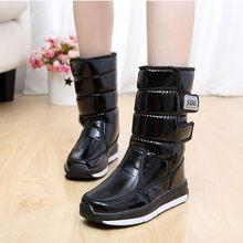 Giày Bốt Nữ Mùa Đông 2019 Ủng Chống Thấm Nước Chống Trơn Trượt Nữ Mùa Đông Giày Lông Dày Dặn Cao Cấp Ấm Giày(China)