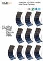 Solarparts 50x 100W flexible solar panel 12V high efficiency solar cell yacht boat marine RV solar