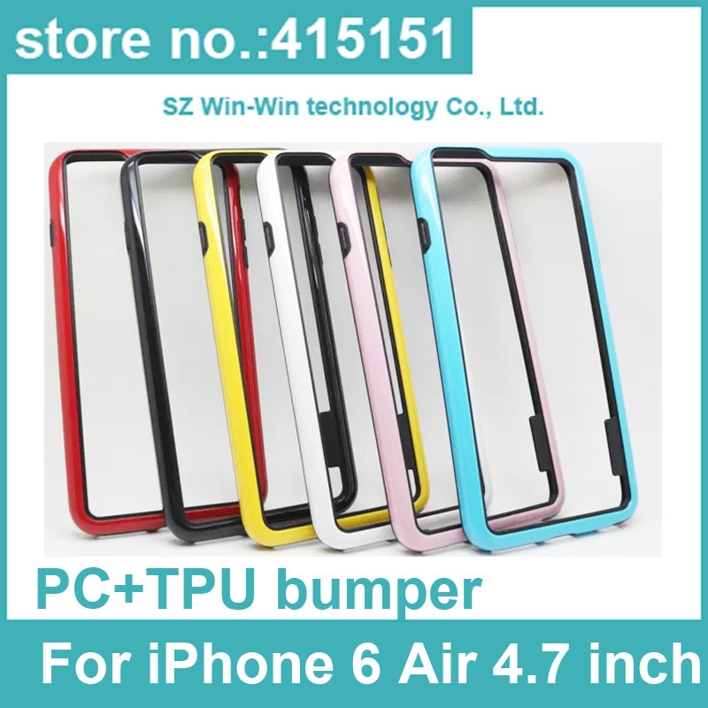 100pcs Dual Color PC+TPU Hybrid Bumper cell phone Case Cover For iPhone 6 Air 4.7 inch. DHL free shipping(China (Mainland))