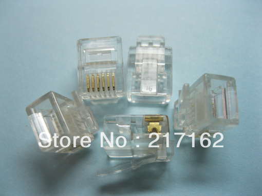 1000 pcs RJ11 6P6C Modular Plug Telephone Connector  HOT Sale