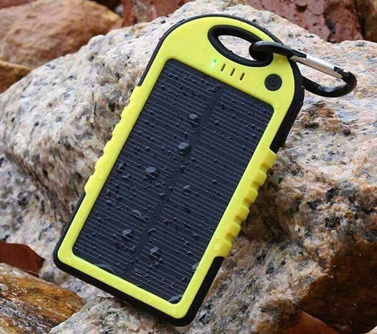 Solar Charger 5000 Mah Dual-USB Drop resistance portable Solar Power Bank 5000 mah ravel External Battery For phone&tablet