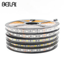 Buy BEILAI SMD 5050 IP65 Waterproof RGB LED Strip 5M 300LEDs DC 12V Fita LED Light Strips Flexible Lights Neon Tape Luz Super bright for $7.39 in AliExpress store