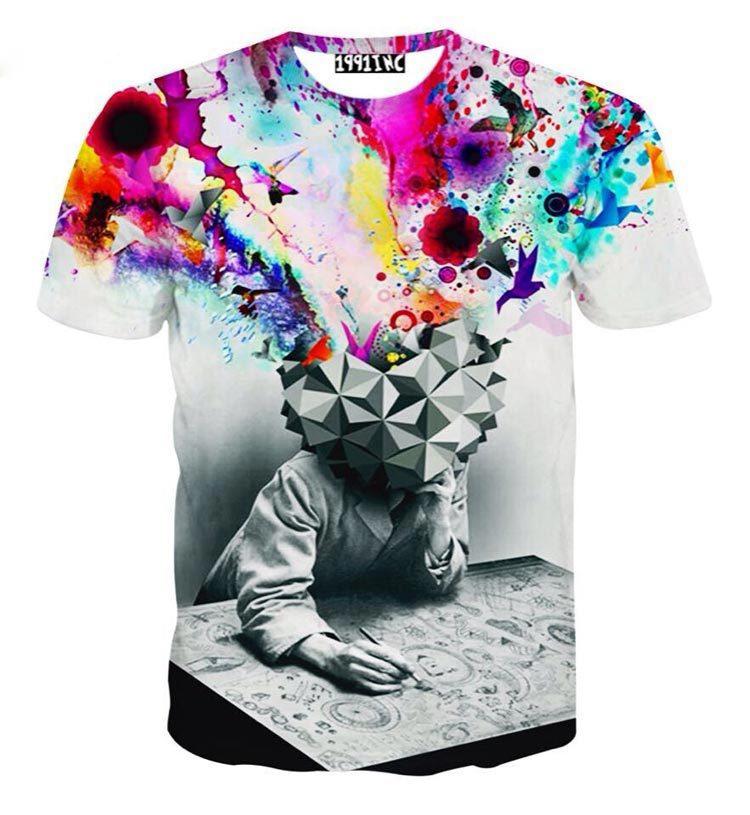 [Mikeal] HipHop Men/women fashion 3d T-shirt Rihanna Monroe Einstein Balloon printed Casual street T shirt for men/Women(China (Mainland))