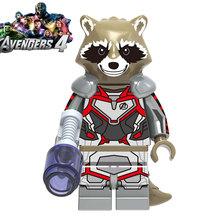 Endgame Legoed 4 Marvel Avengers Capitão América homem de ferro Hulk Figuras Blocos de construção Ninja Thanos Motocicleta Brinquedos para as crianças(China)