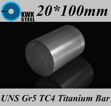 Buy 20*100mm Titanium Alloy Bar UNS Gr5 TC4 BT6 TAP6400 Titanium Ti Round Bars Industry DIY Material Free for $17.50 in AliExpress store