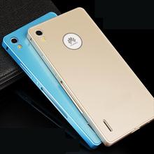 Для Huawei P7 чехол 2 в 1 бампера металла алюминиевая рама + обложка для Huawei Ascend P7 + подарок принципиально коке Capinha