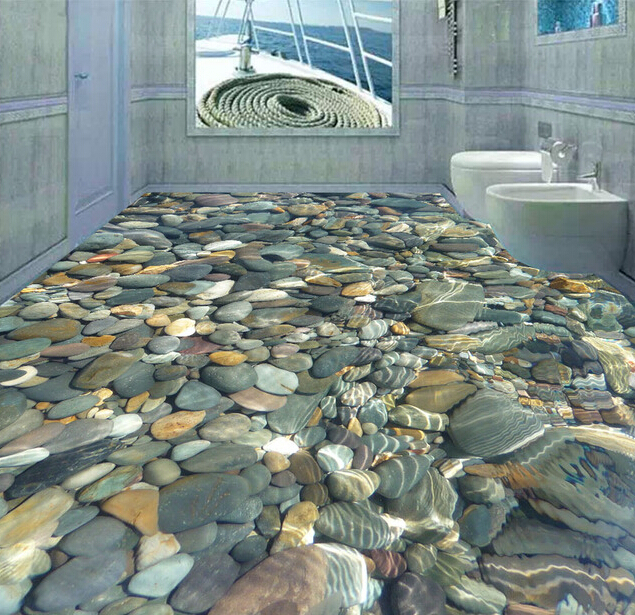 Ceramic decorative tile 3d cobblestone design swimming for Swimming pool room decor