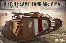 Meng modelo ts-020 1/35 british pesado tanque mk. V para hombre kit modelo de plástico