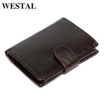Buy WESTAL Men Wallets Genuine Leather Oil Waxing Wallet Vintage Men's Purse Card Holder Coin Pocket Wallets Money Purses 9049 for $11.96 in AliExpress store