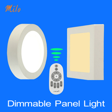 Wholesale Dimmable led panel light : Remote control , round & square shapes , 6W-24W , suspended-ceiling fixed , 85-265V 50/60Hz(China (Mainland))