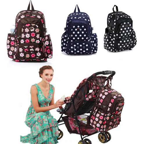 Colorland super large capacity multifunctional backpack nappy bag font b baby b font diaper bags changing