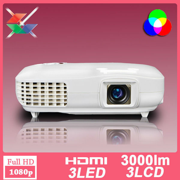 Free shipping 3LCD 3LED 1920×1080 1080P Full HD LED Home Use Video Projector 1920×1080