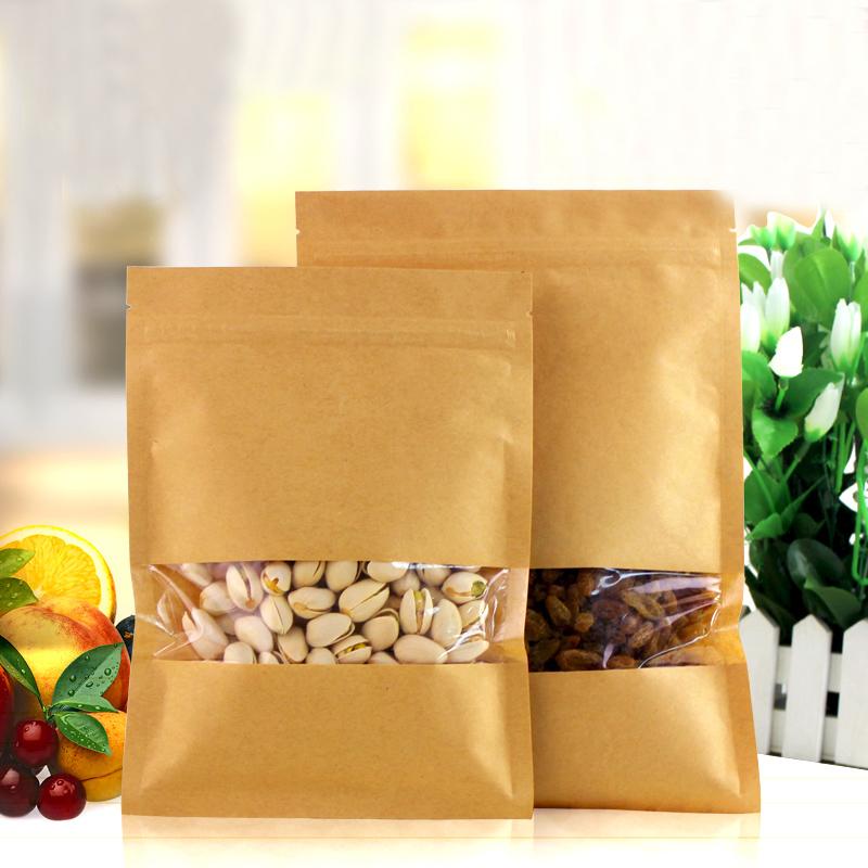 100pcs/lot 14cm*20cm*140micron Retail Packaging Plastic Bag For Sale Heat Seal Kraft Paper Bags(China (Mainland))