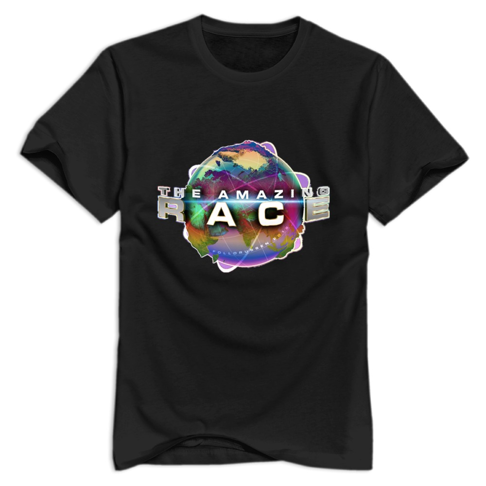 Custom the amazing race 2015 t shirts man 100 cotton new for Racing t shirts custom