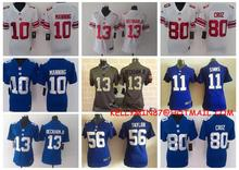 100% Stitiched,New York Giants,Eli Manning,Odell Beckham Jr,Victor Cruz,Lawrence Taylor,Phil Simms,women,for youth kids()