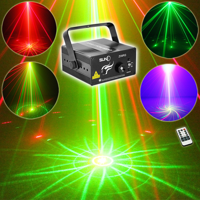SUNY New Remote Xmas Bar RG Laser BLUE LED Stage Lighting DJ Home Party Full show Light Color Beautiful Professional Adjustable - suny Official Store store