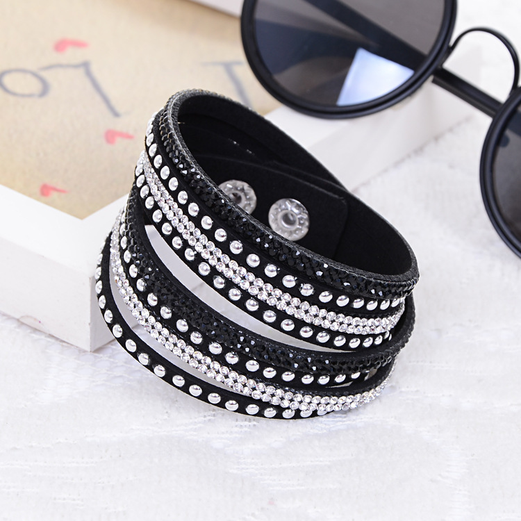 2014 Hot Selling ! New Women's Red Fashion Leather Bracelets For women Christmas Gifts New Year 13 Color ChoicesFree Shipping(China (Mainland))