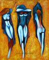 Top Skill Hand Painted Modern Abstract Nude Portrait Oil Painting on Canvas Sex Portrait Decorative Paintings