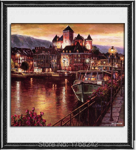 The harbour at night diamond diy painting diamond mosaic embroidery cross 5d rubik's cube crafts patchwork(China (Mainland))