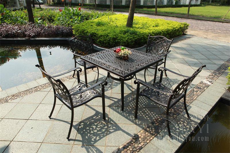 En aluminium tables de jardin promotion achetez des en for Table exterieur fonte