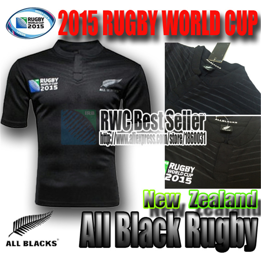 RWC New Zealand All Blacks Rugby Shirt 2015 2016 Season Men world cup Rugby Jersey best quality jersey 2015 2016 sevens S-XXL(China (Mainland))