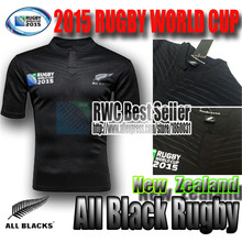 Rwc Neuseeland all blacks rugby-shirt 2015 2016 Saison männer Rugby World Cup trikot beste qualität trikot 2015 2016 Siebener s-xxl(China (Mainland))