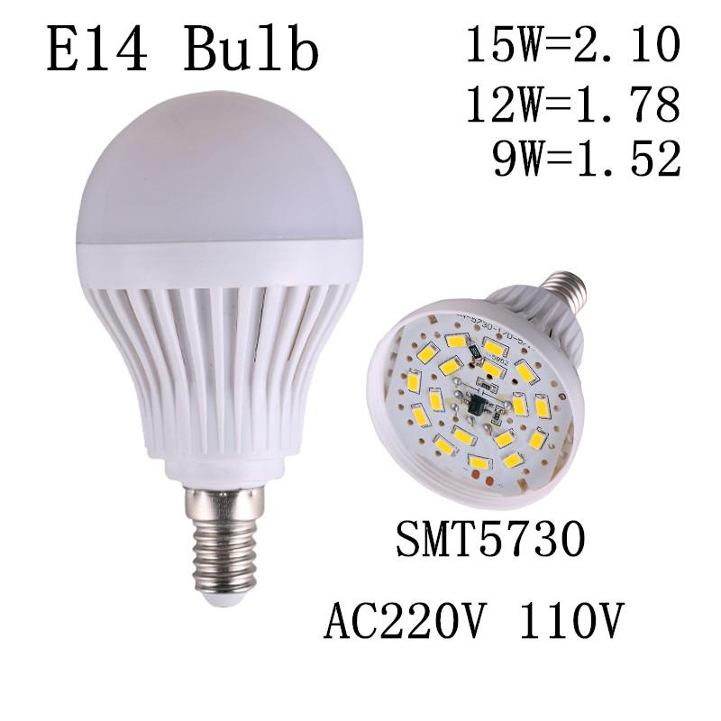LED bulb lamp bulbs led lights E14 SMT5730 5 9 13 17 20 23 30 40 50chips lamp led e27 lampada led 220v(China (Mainland))