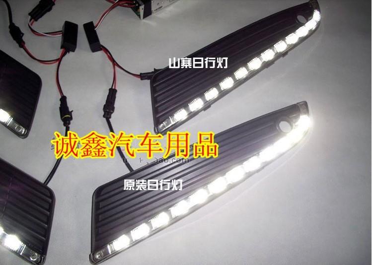 Free shipping !12V 6000k LED DRL Daytime running light case for Luxgen 7 Luxgen7 fog lamp frame Fog light Car styling