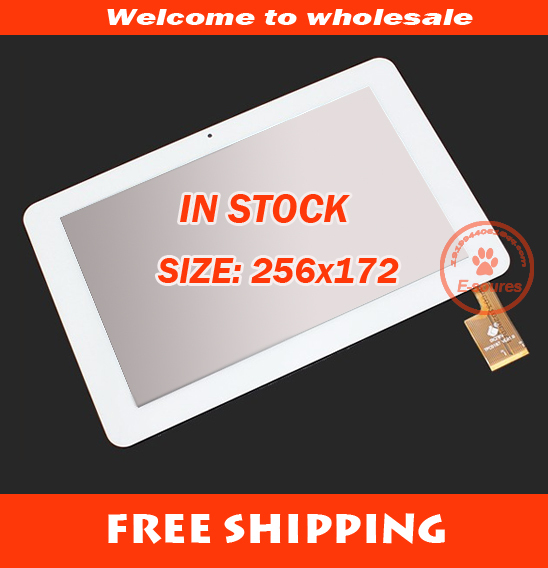 "Original new 10.1"" touch digitizer touch panel 257*172mm for Sanei N10 AMPE A10S Dualcore 3G version Tablet PC TPC0323 White(China (Mainland))"