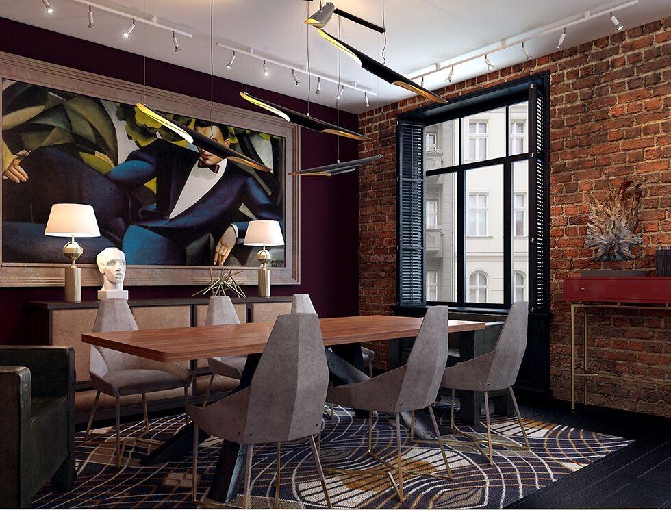 Купить Реплика Delightfull Колтрейн современный творческий косой подвесной Светильник e27x2 алюминиевый черный + Золотой цвет мода ресторан освещение