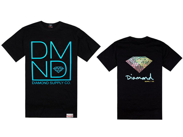 Diamond supply co T-Shirts Hip Hop Short sleeve Round Neck Brand Men's Casual Clothing Sweatshirts Streetwear Good quality(China (Mainland))