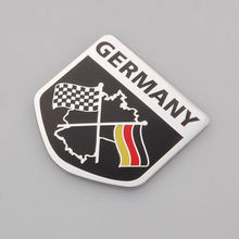 Auto Car Matel 3D Chequered Germany Flag Truck Badge Emblem Decal Fender Sticker