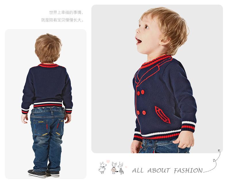 Скидки на Детские свитера зима мальчики пуловеры свитер о-образным вырезом трикотажные мальчиков верхней одежды свитер рубашку 100% хлопок новорожденных одежда 2015 новый