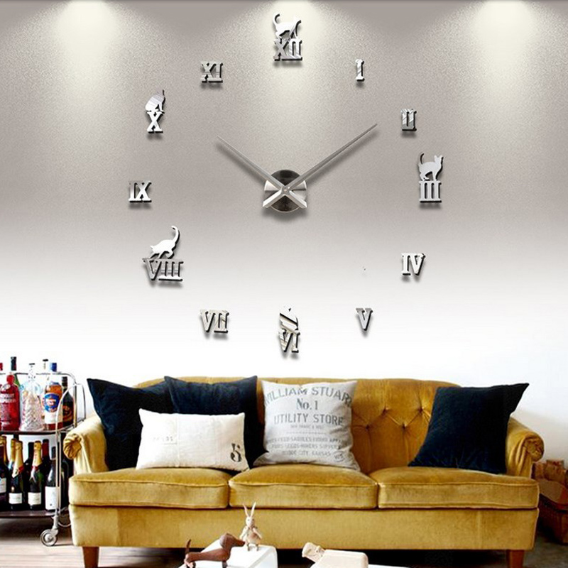 Buy 2016 new hot sale home decorations for Living room wall clocks