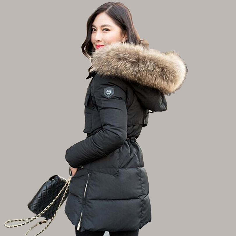Women's long winter coats with fur hood – Modern fashion jacket ...