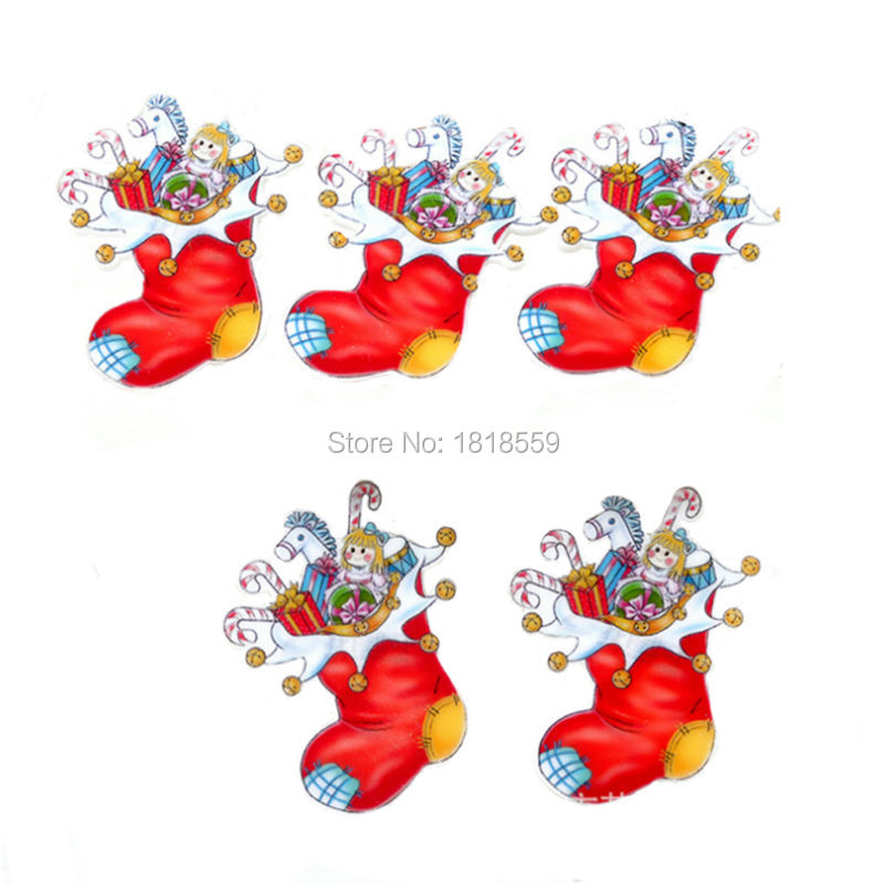20Pcs Christmas Socks Flatback Resin Planar Cabochons Kids Girls Best GIFT Craft Accessories(China (Mainland))