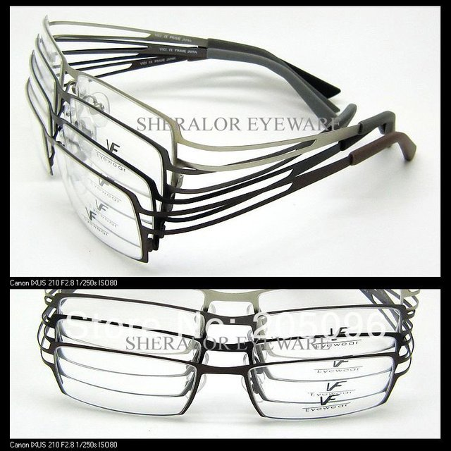 VF 6274 stainless steel sheet full-rim glass frames with ultra bendable steel plank temple optical eyeglass frames free shipping